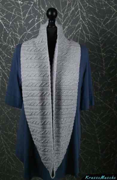 lange schal mit 180 cm gestrickt mit nadel 3 aus catania wolle von krassemasche in silber