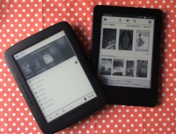 Energy Sistem m. Skoobe (links), kindle (rechts)