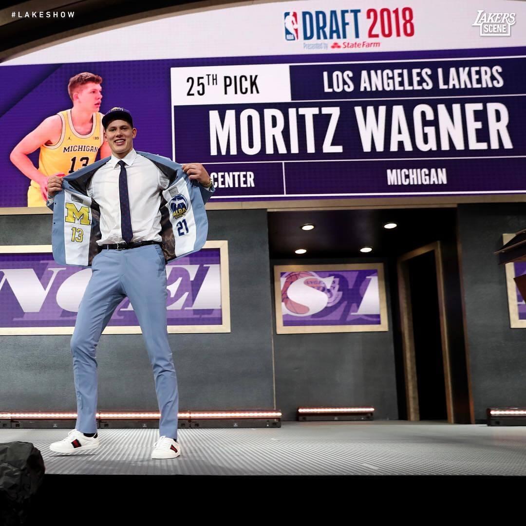 Moritz Wagner 被湖人以 25 順位選走