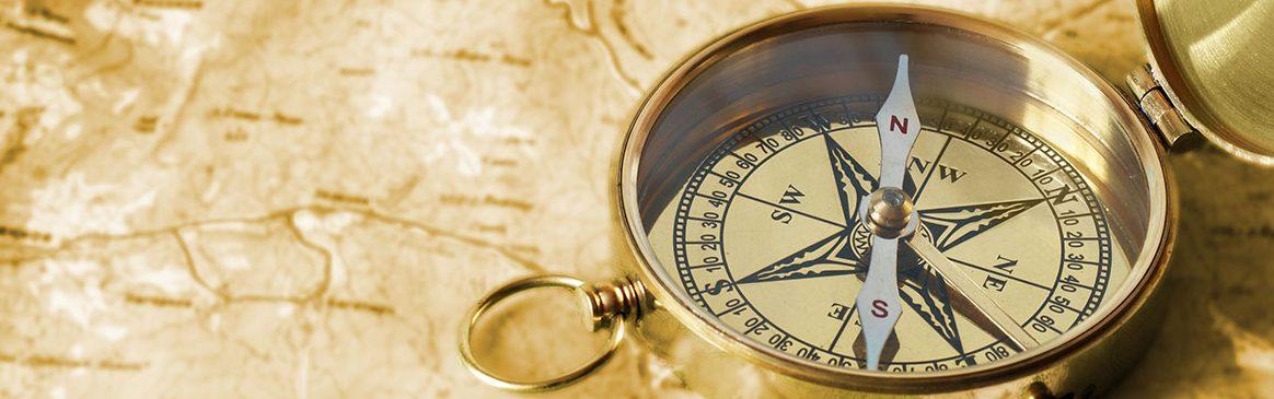 brass landscape compass