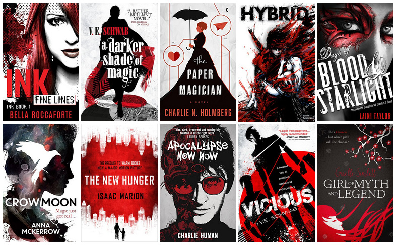Black, White, & Red Book Covers | reading, books, book covers, cover love, black, white, red