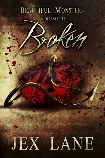 Book Review: Broken (Beautiful Monsters Book 3) by Jex Lane | reading, books, book reviews, fantasy, urban fantasy, lgbt, vampires, incubi