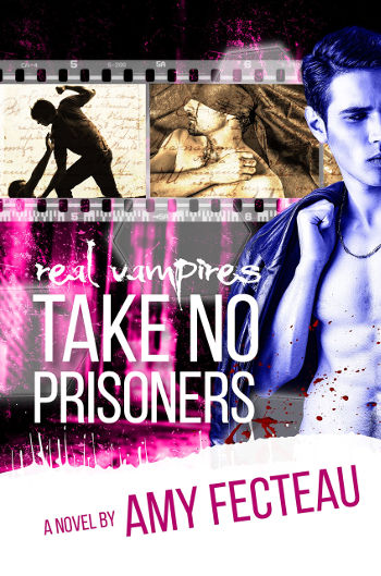Book Review: Real Vampires Take No Prisoners (Real Vampires Don't Sparkle Book 3) by Amy Fecteau | reading, books, book reviews, fantasy, paranormal romance, urban fantasy, lgbt, m/m, vampires