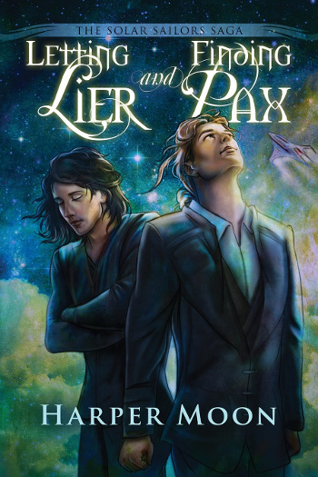 Book Review: Letting Lier and Finding Pax (The Solar Sailors Saga Book 1) by Harper Moon | reading, books, book reviews, science fiction, lgbt, m/m