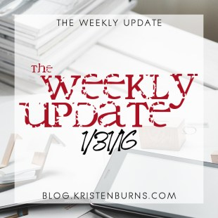 The Weekly Update: 1/31/16