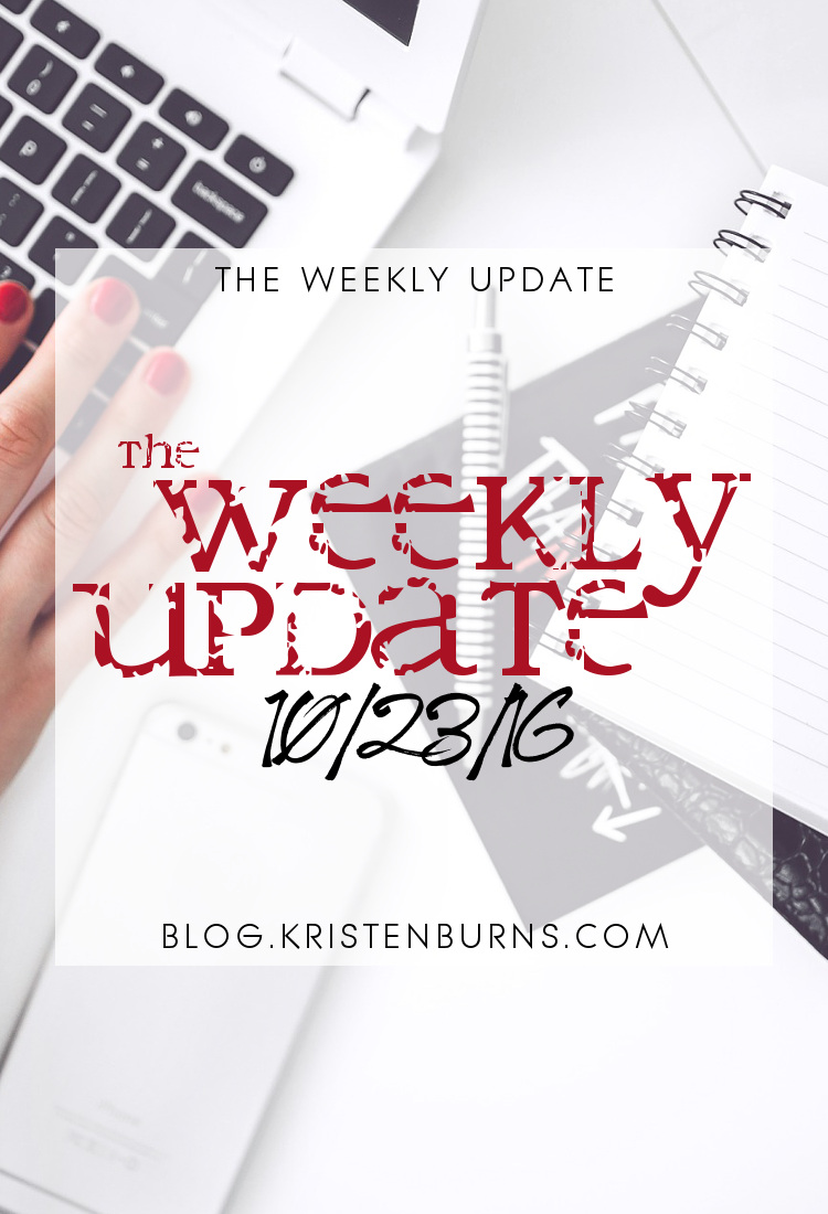 The Weekly Update: 10/23/16 | reading, books