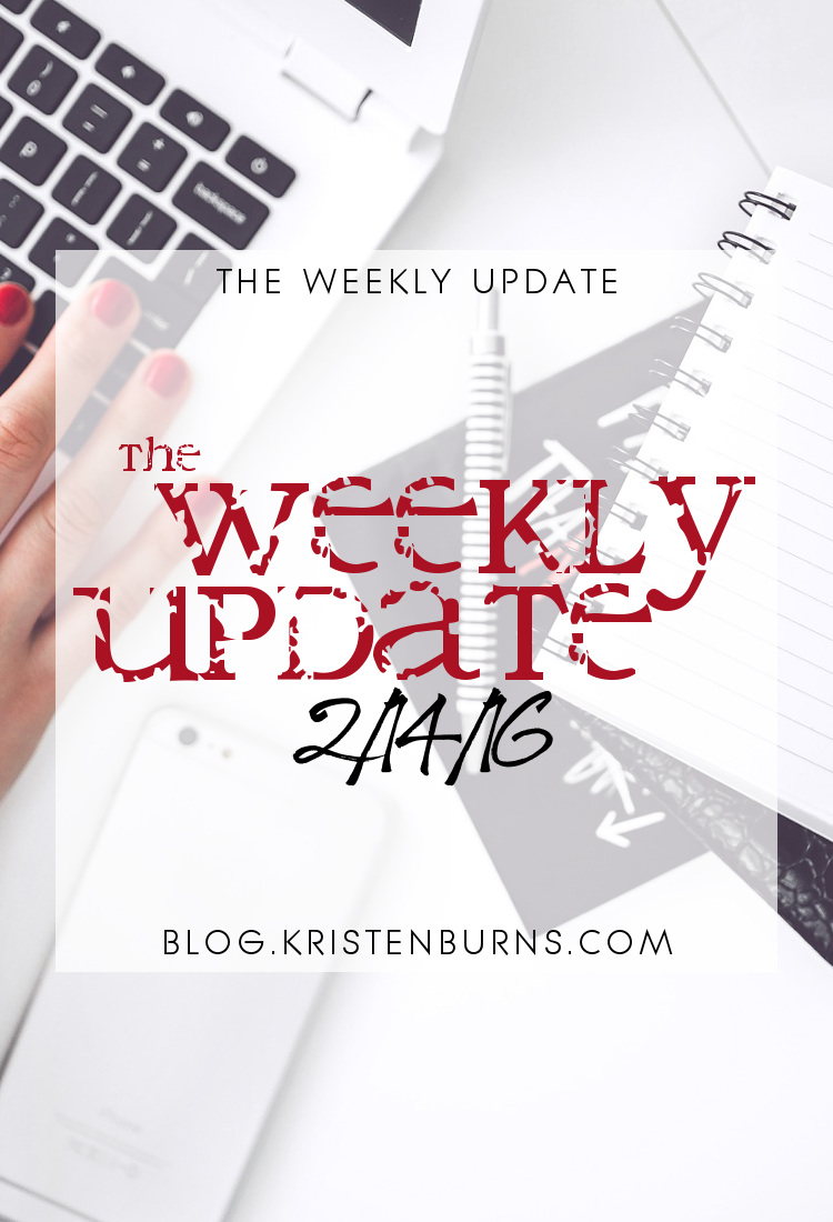 The Weekly Update: 2-14-16 | books, reading