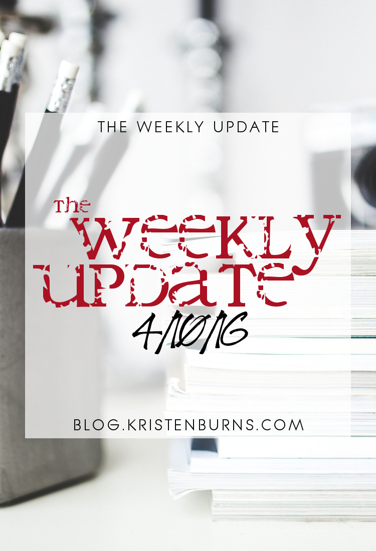 The Weekly Update: 4-10-16 | books, reading, blogging