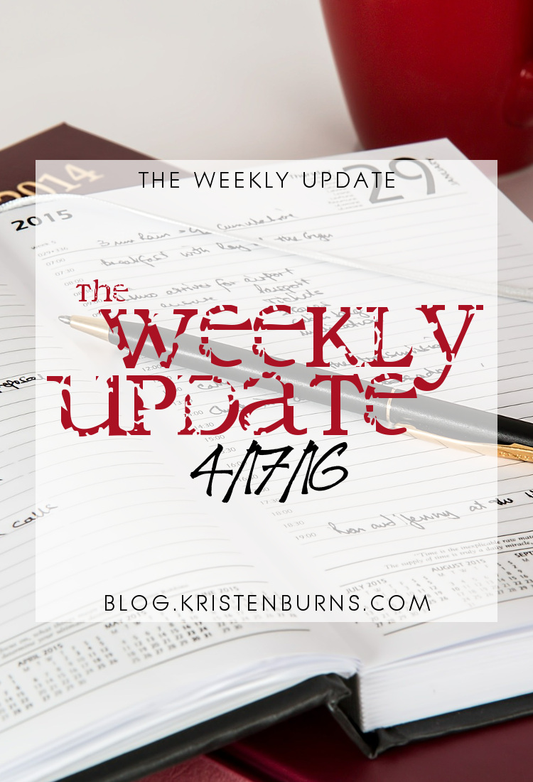 The Weekly Update: 4-17-16 | books, reading, blogging