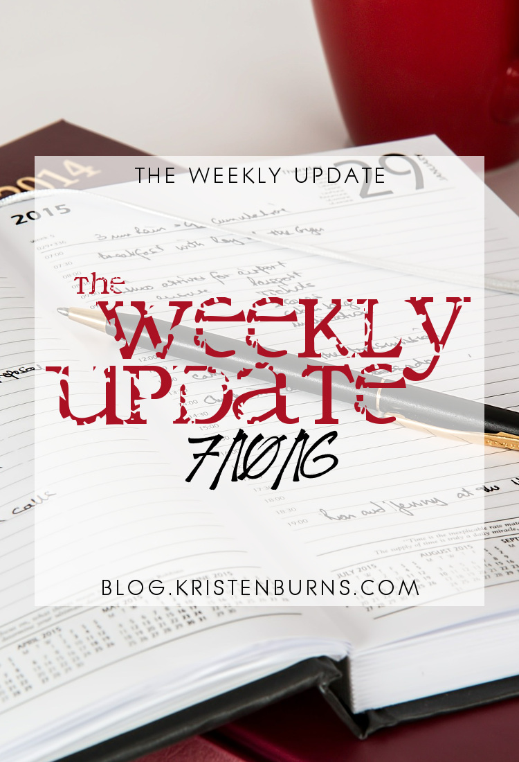 The Weekly Update: 7-10-16 | reading, blogging, books