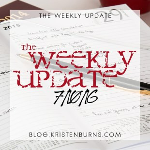The Weekly Update: 7/10/16