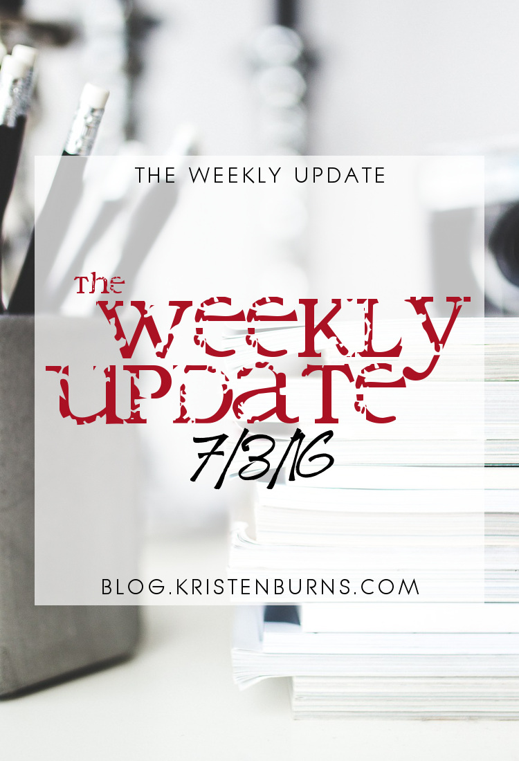 The Weekly Update: 7-3-16 | reading, books, blogging