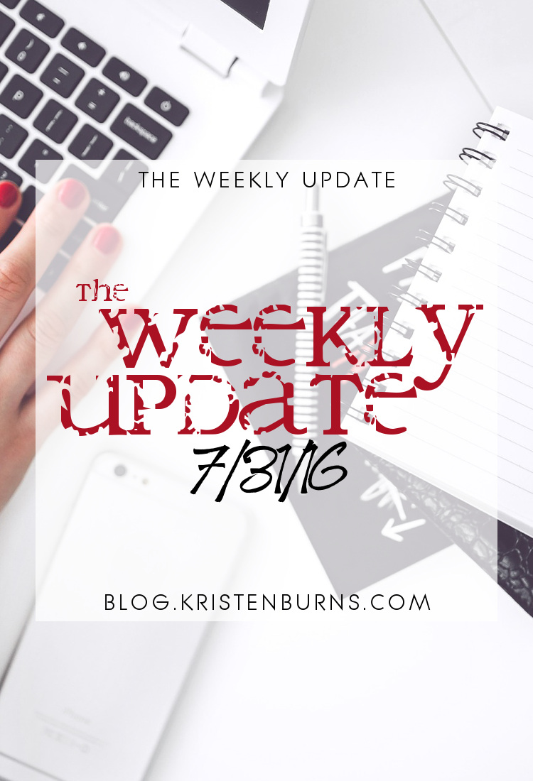 The Weekly Update: 7-31-16   reading, books, blogging