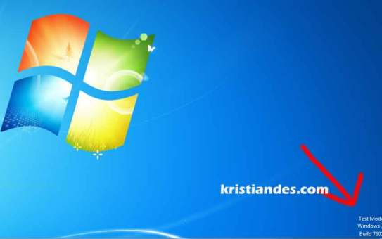 Test-Mode-Windows-7-Build-7601-1