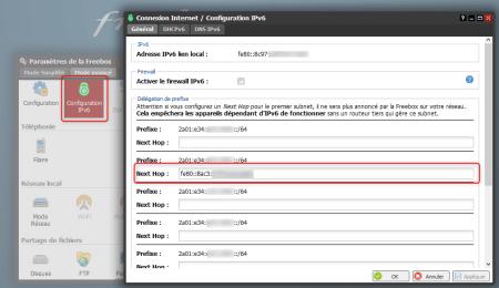 Configuration IPv6 - Délégation de prefixe