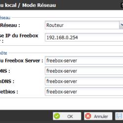 Freebox - Mode Réseau - Routeur