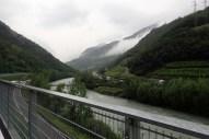 Verstopfte Brennerautobahn, volle Strasse, leerer Radweg