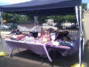 My stall at the Norwood Community Market