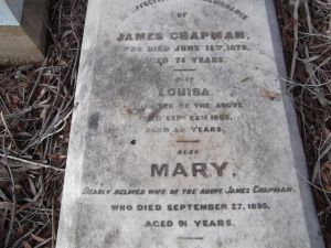 Headstone of James and Mary Chapman and family