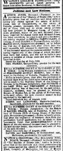 Probate Notice for Ferdinand Gustav Buring