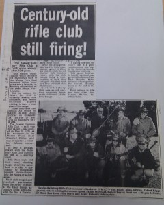 Salisbury Rifle Club newspaper clipping