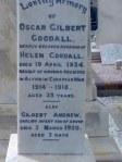 Oscar Gilbert Goodall, Helen Goodall and Gilbert Andrew Goodall Hindmarsh Cemetery