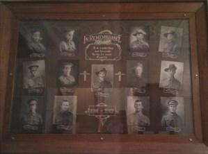 Mt Pleasant District Honour Roll