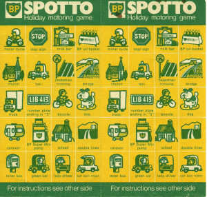 Spotto game cards