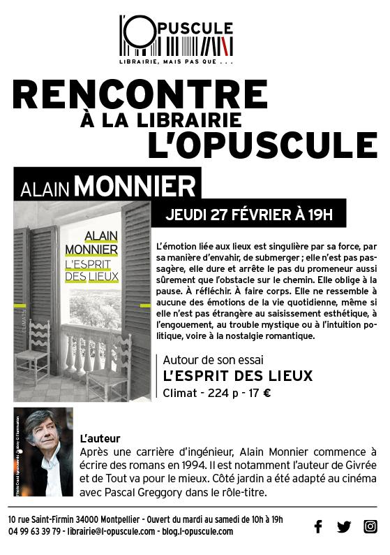 Rencontre Alain Monnier