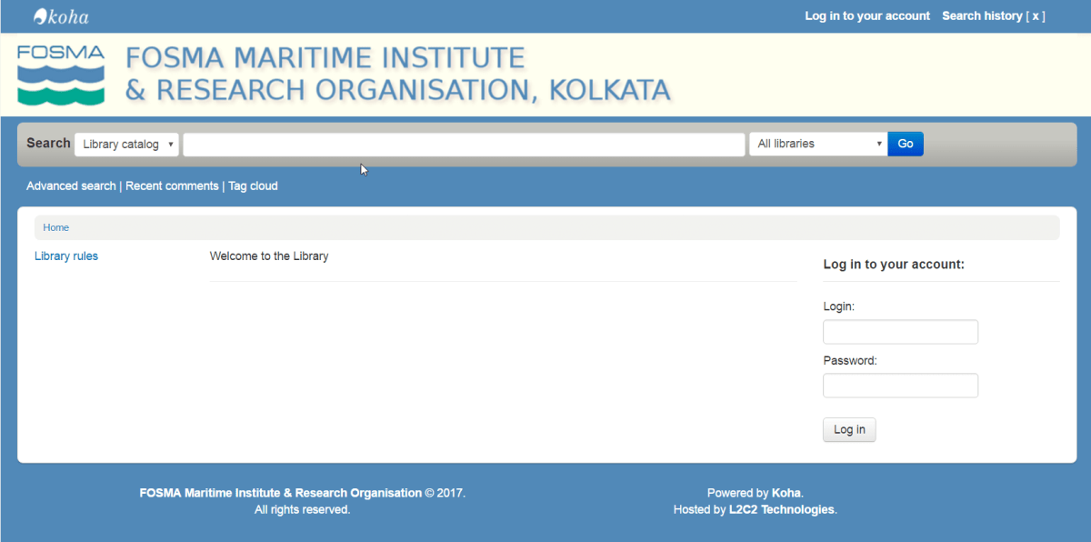 FMIRO Kolkata partners with L2C2 Technologies to automate their new library.