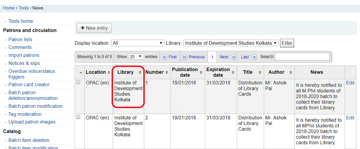 Quick Tip – What to avoid when adding news items to your Koha OPAC
