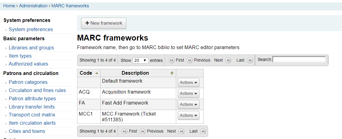 Generate a single sheet custom MARC21 framework in 2 minutes