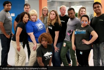 le t-shirt, l'uniforme de LinkedIn 2013