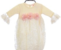 baby-infant-gown-and-hat-vanilla-spring-front