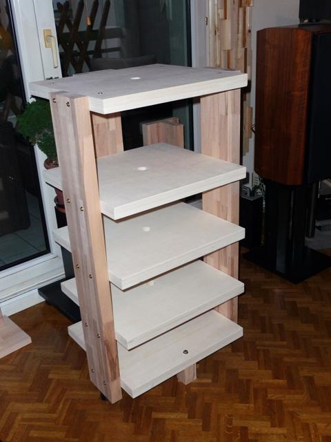meuble hifi en bois sur mesure le