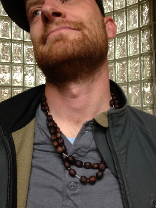 Coffee cherries on necklace