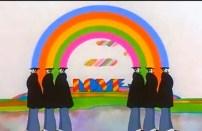 """Esta es la entrada a ese país """"no terrenal"""", un arcoíris bajo el cual podemos leer Love, una palabra clave en la película. Pero, ¿qué es Pepperland?"""