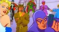 Diferentes iconos y héroes. Fred le pregunta si pueden llevarse alguno, pero Ringo responde que no, porque él sólo trabaja con sus compañeros. No será la primera vez que alguien haga un comentario parecido.