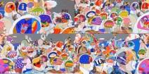 """Este mundo es el más cercano a la psicodelia entendida por John. En el mar de las cabezas tenemos una gran cantidad de mensajes: palabras como """"never"""", """"maybe"""", una referencia al Marqués de Sade, fórmulas matemáticas, estrellas, la palabra """"true""""… Todo parece simbolizar la complicada mente de John y las preguntas que se haría constantemente."""