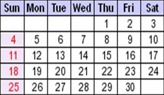 septiembre calendario