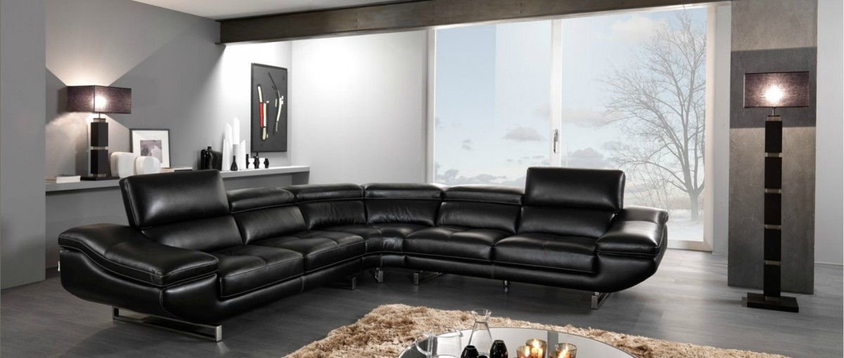 The possibilities are endless when you use white as the base of your color palette for your living room furniture. Decorating Tips Around Modern Black Leather Furniture - LA ...