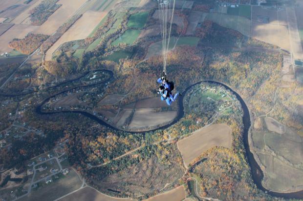 Frédérique en chute libre, une expérience inoubliable