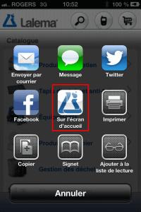 Lalema Site mobile | Choisir Écran d'accueil