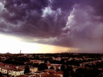 front orageux sur Montréal le 24 juin 2013