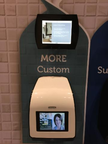 distributeur à papier avec iPad intégré