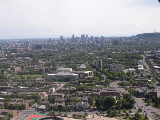 vue du centre-ville stade olympique
