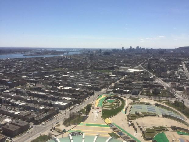 vue de l'esplanade à partir du funiculaire stade olympique