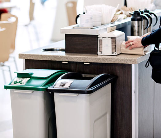 Contenant à composte plus poubelle Waste Watcher