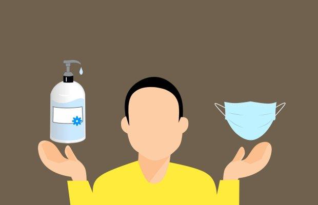 Le savon et le masque comme protections essentiels