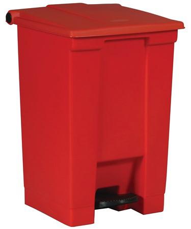 Poubelle rouge Step-On de Rubbermaid Commercial Products